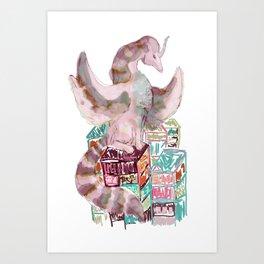 dragon cyberpunk Art Print
