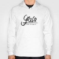 grace Hoodies featuring Grace by Pedro A Ribeiro