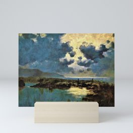 12,000pixel-500dpi - David Young Cameron - Moonlit Marsh - Digital Remastered Edition Mini Art Print