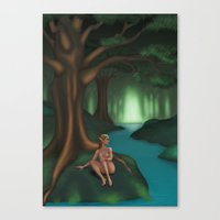 elf Canvas Prints featuring Elf by Egberto Fuentes