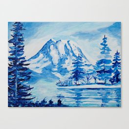 Winter Mt. Rainier Canvas Print
