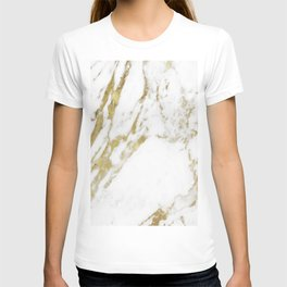Gold vein marble T-shirt