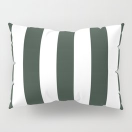 Black leather jacket green - solid color - white vertical lines pattern Pillow Sham