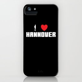 Hannover I LOVE Lusitger Saying iPhone Case