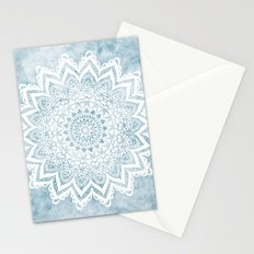 LIGHT BLUE MANDALA SAVANAH Stationery Cards