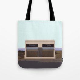 Marfa Installation: A digital illustration Tote Bag