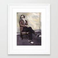 woody allen Framed Art Prints featuring Woody Allen by Melinda Hagman