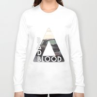 bastille Long Sleeve T-shirts featuring Bastille - Bad Blood by Thafrayer