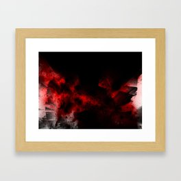 Crimson Orbit Framed Art Print