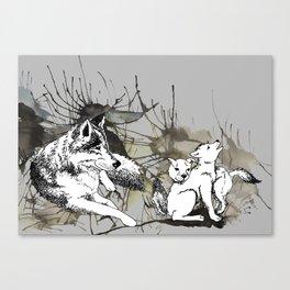 Grey Wolves Canvas Print