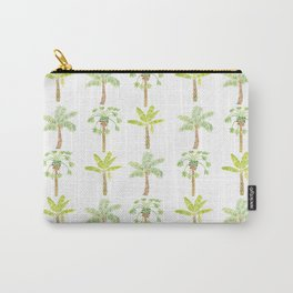 Tropical Tree Print Carry-All Pouch