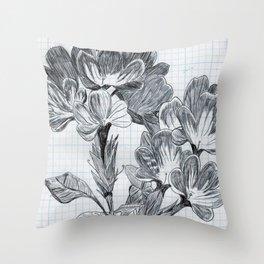 cabeza de flores Throw Pillow