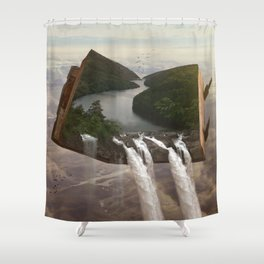 The Story of Earth Shower Curtain