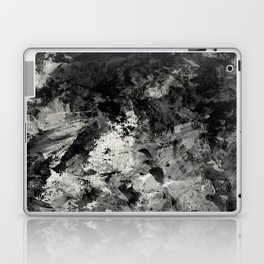 Impossibility - Textured, black and white abstract Laptop & iPad Skin