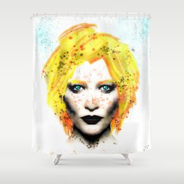 Freckle Face Girl Shower Curtain