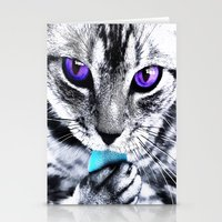 thundercats Stationery Cards featuring Purple eyes Cat by Augustinet
