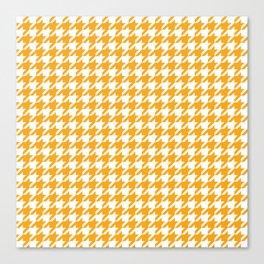 Orange Houndstooth Pattern Canvas Print
