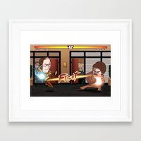 parks and rec Framed Art Prints featuring Parks and Retaliation by DennisHart