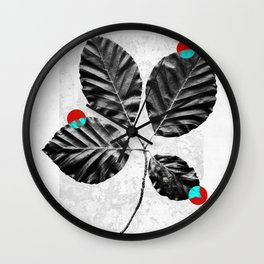 Abstract Flowers 4 Wall Clock