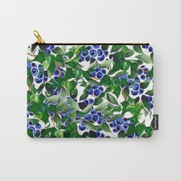 Blueberries and Ivy Carry-All Pouch