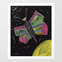 Squareland -squatterfly Art Print