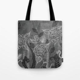 Rose Garden White Tote Bag