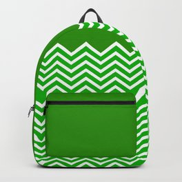 Solid Green Chevron Backpack