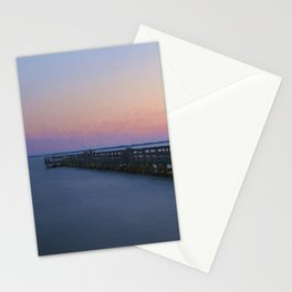 Hilton Pier at Sunset Stationery Cards