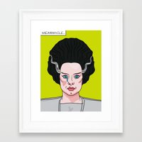 lichtenstein Framed Art Prints featuring The Bride of Lichtenstein by Quick Brown Fox