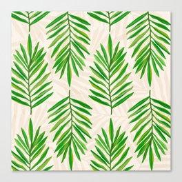 Bali Palms 2 / Tropical Pattern Canvas Print