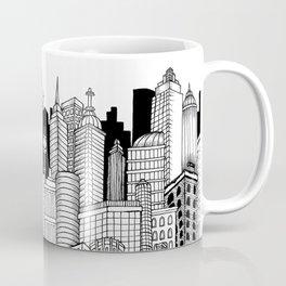 City on A3 - ink illustration Coffee Mug