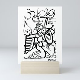 Pablo Picasso Large still life with pedestal, Grande nature morte au guéridon Artwork, Tshirts, Prints, Posters, Men, Women, Kids Mini Art Print