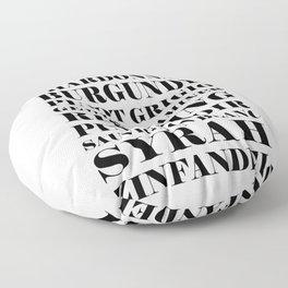 Wine Celebration - White Floor Pillow