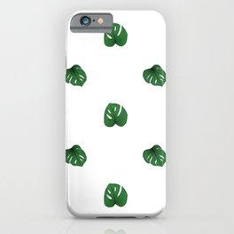 Monstera (Mini) - White iPhone Case