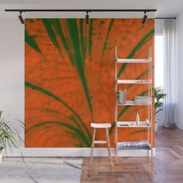 Dotted Power,orange Wall Mural