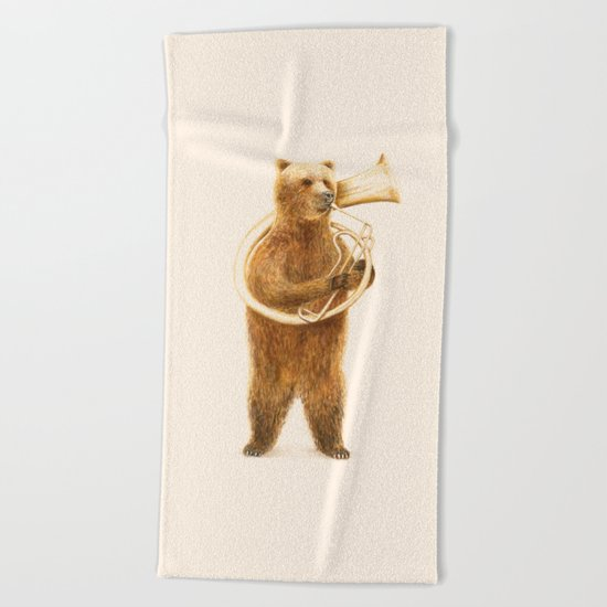 The Bear and his Helicon Beach Towel