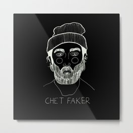 Chet Faker (Inverted) Metal Print