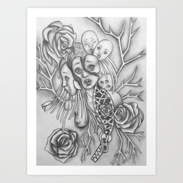 Rooted Problems-Drawing Illustration Art Print