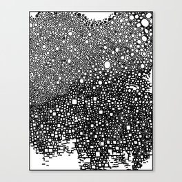 B&W meditation design Canvas Print