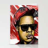 jay z Stationery Cards featuring Jay Z by C.Love Designs