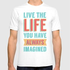 LIVE LIFE White Mens Fitted Tee MEDIUM