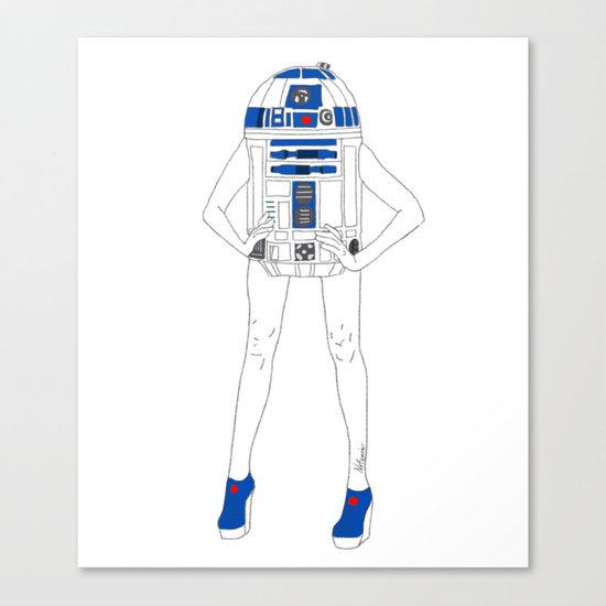 Girl R2-D2 Canvas Print