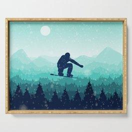 Snowboard Skyline II Serving Tray