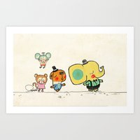 Walking with you Art Print