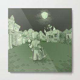 Minecraft Nightmare Metal Print