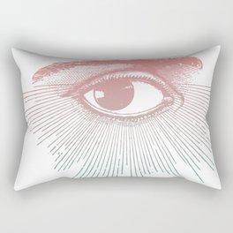 I See You. Pink Turquoise Gradient Sunburst Rectangular Pillow
