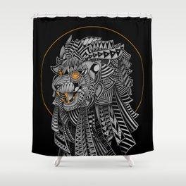 Barbarian Lion Shower Curtain