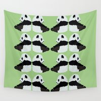 pandas Wall Tapestries featuring Pandas by Alexandra Baker