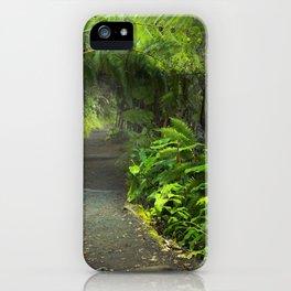 Lush rainforest in Volcanoes National Park Big Island Hawaii, USA iPhone Case