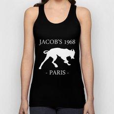 White Dog II Black Contours Jacob's 1968 fashion Paris Unisex Tank Top